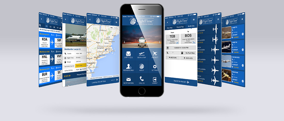 FlightTime Mobile App UI